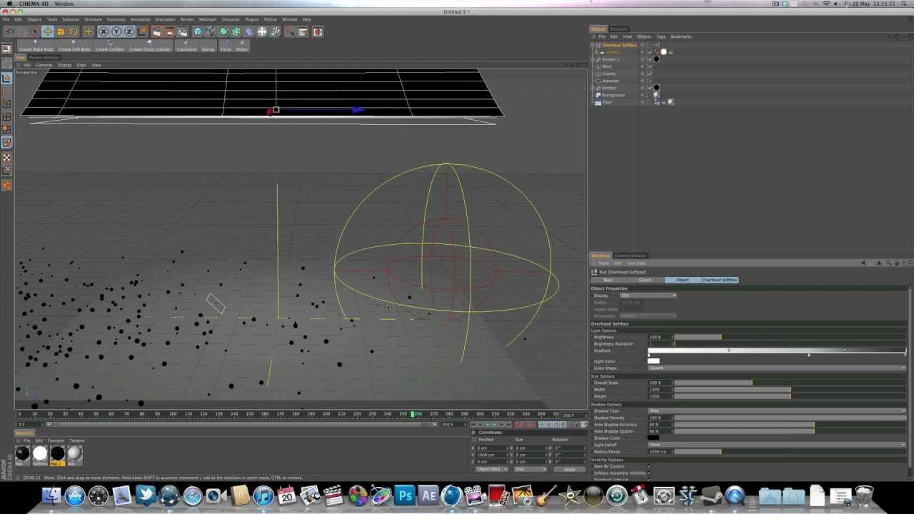 cinema 4d r12 dynamics tutorial emitter attractor acrezhd youtube. Black Bedroom Furniture Sets. Home Design Ideas