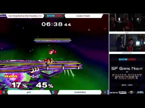 Get Smashed at the Foundry #2 Losers' Finals - gaR (Sheik) vs HydroKirby (Falco)