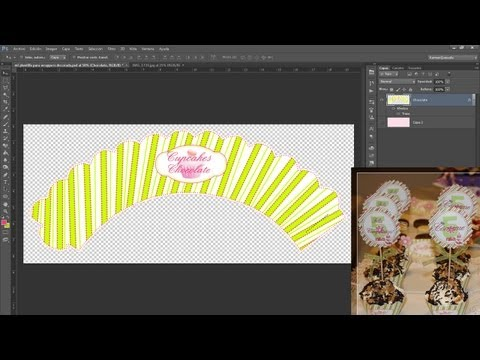 Tutorial Photoshop: Como hacer Wrappers para Cupcakes