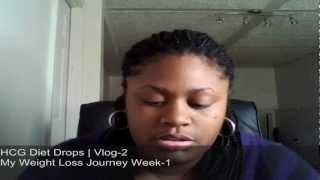 Walmart HCG Drops Week 1 My Weight Loss Journey Vlog-2