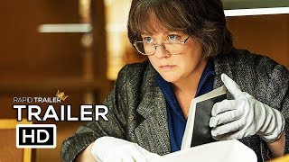 CAN YOU EVER FORGIVE ME? Official Trailer (2018) Melissa McCarthy Movie HD