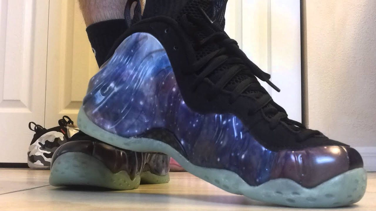 nike galaxy foamposite quoton feetquot youtube
