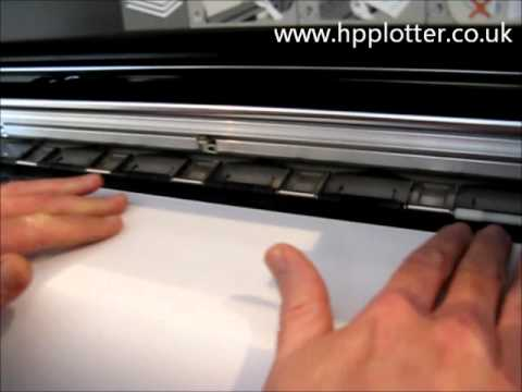 Designjet 1050c/1055cm Series - Load paper/media sheet on your printer