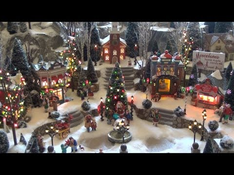 Disney's Yacht Club Resort Holiday Train Display With Department 56, Seaside Village, Railroad