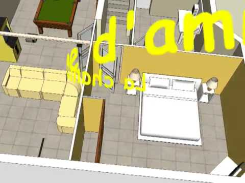 Maison 3d par google sketchup youtube for Sketchup plan maison