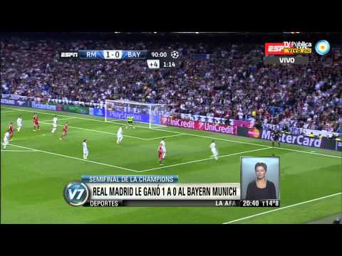 Visión 7: Champions League: Real Madrid 1 - 0 Bayern Munich