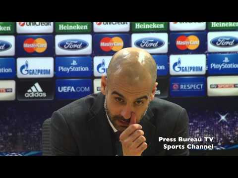 Pep Guardiola reaction Arsenal vs Bayern Munich