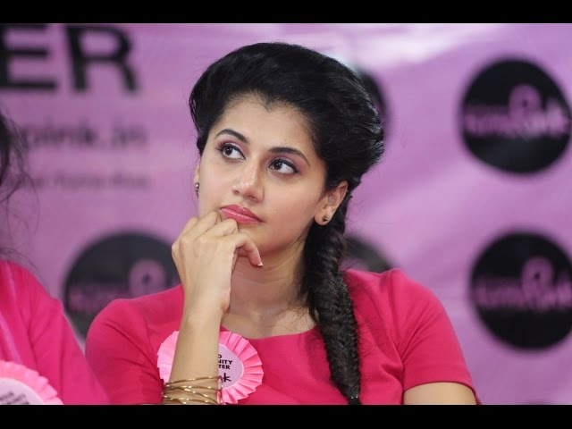 Chennai Turns Pink - Taapsee Pannu's Promo Video launch at QMC - BW