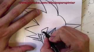 Cómo Dibujar A Goku Paso A Paso A Lápiz Y Rotulador