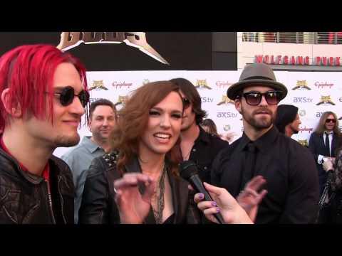 Frankie DiVita interviews Halestorm at the2013 Revolver Golden Gods Awards Black Carpet