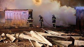 حريق بمخيم للاجئين شمال فرنسا |