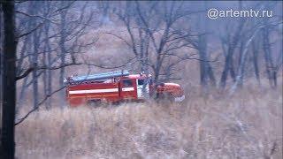 Огонь в лесу. Противопожарные учения прошли вблизи посёлка Заводской