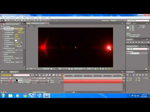 After Effects Title Tutorial (Optical Flares)