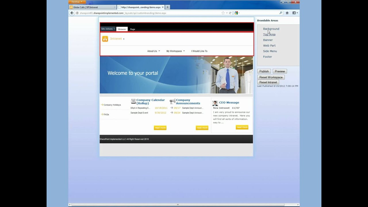 amazing sharepoint intranet in minutes youtube. Black Bedroom Furniture Sets. Home Design Ideas