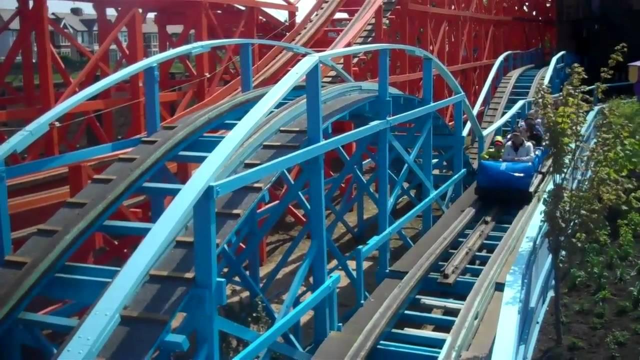 Blue Flyer On Amp Off Ride At Pleasure Beach Blackpool