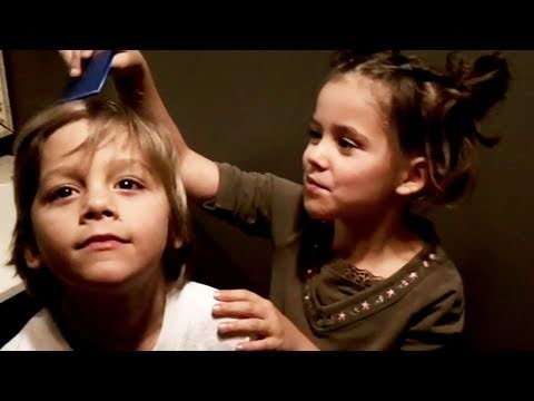 Emma Dyes Her Brother Jonah's Hair!!