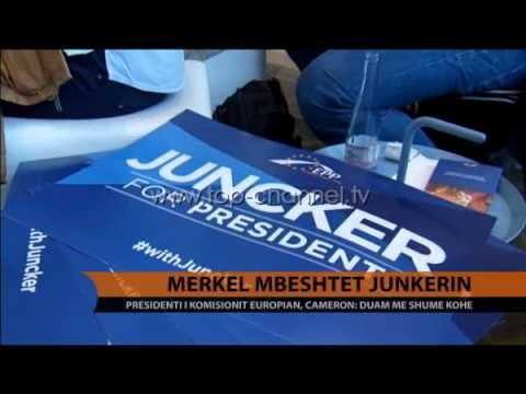 Merkel mbështet Junkerin - Top Channel Albania - News - Lajme