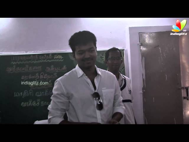 Actor Vijay cast his vote | Election 2014