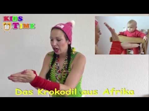 Das Krokodil aus Afrika - Lustiges Kinderlied mit Text