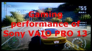 Gaming Performance Of Sony Vaio PRO 13 (Haswell Intel Core