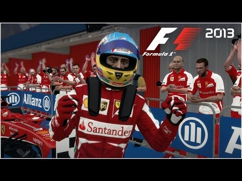 F1 2013 - Fernando Alonso vs Ferrari @ Circuit de Catalunya - 3 laps