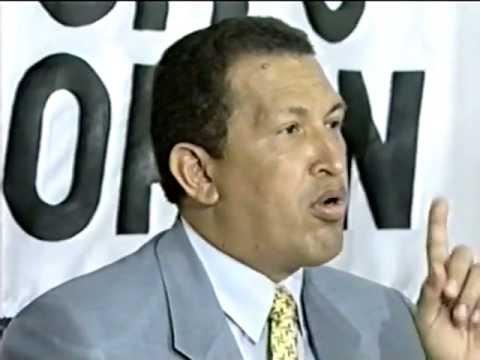 Candidato Hugo Chávez en 1998.