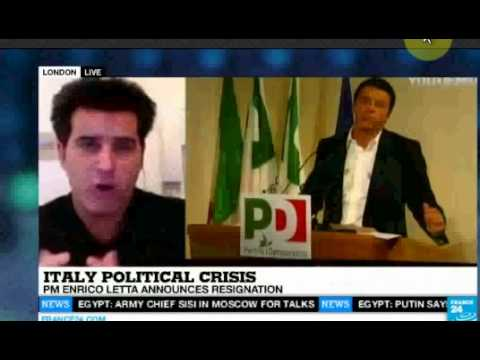 TV Interview: Renzi as Italy's new Prime Minister / Letta ousted