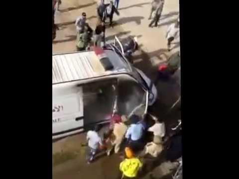 """فيديو إحراق سيارة """" اصطافيط"""" التابعة لأمن هوارة"""