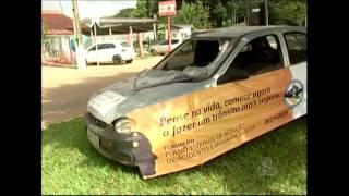Órgãos de segurança de Ariquemes, RO, fazem campanha para diminuir violência no trânsito -