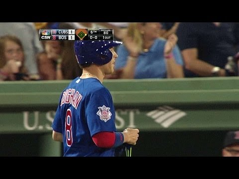 CHC@BOS: Coghlan plates Ruggiano with a grounder