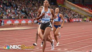 USA's Ajee Wilson cruises to 800m Diamond League victory   NBC Sports