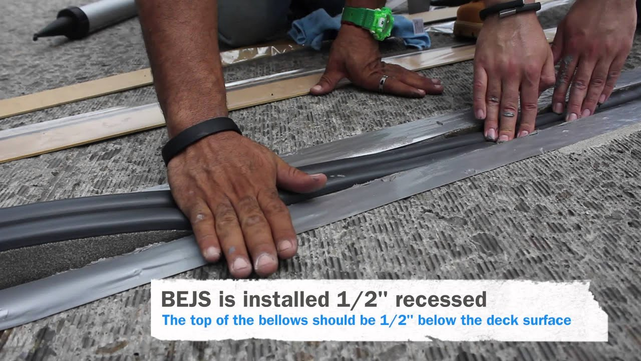 Emseal Bejs Installation Bridge Expansion Joint System