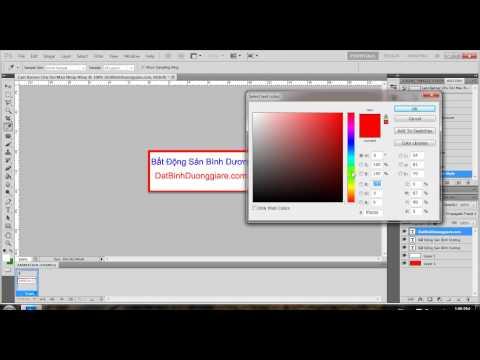 Video Hướng dẫn làm Banner chữ nhấp nháy, chữ đổi màu