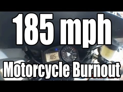 185 mph Motorcycle Burnout