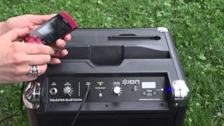 Ion Tailgater Bluetooth Portable Speaker System With Ipod