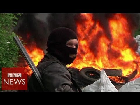 Sloviansk rebels down army helicopters - BBC News