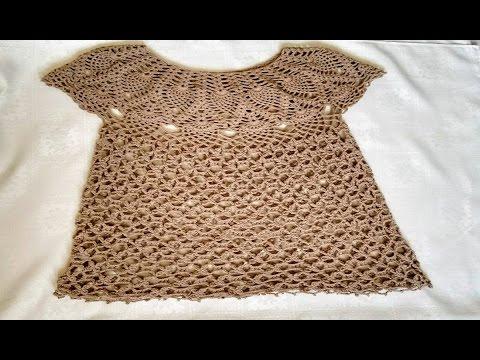 Blusa tejida en crochet / Blusa tejida para dama en ganchillo parte 3