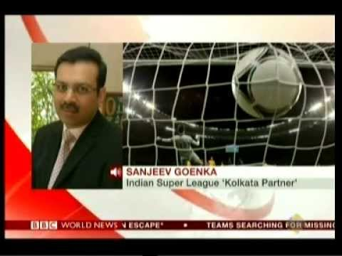 ISL Football   Mr Sanjiv Goenka and Sourav Ganguli   BBC 14 4 14