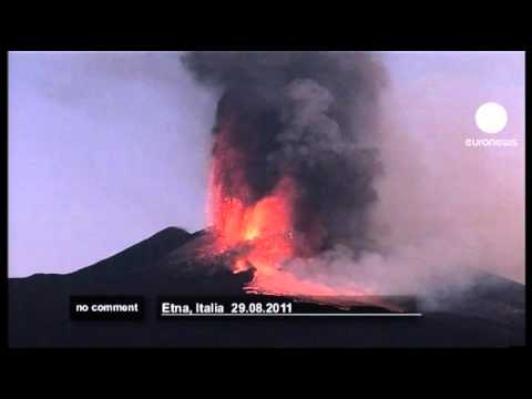 Mount Etna volcano erupts for twelfth time... - no comment