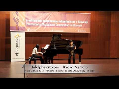 Kyoko Nemoto – Nova Gorica 2013 – Johannes Brahms: Sonata Op 120 no2 1st Mov