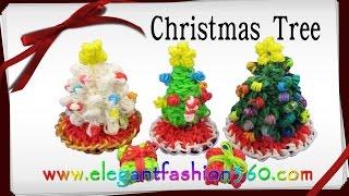 Rainbow Loom Christmas Tree 3D Charms How To Loom Bands