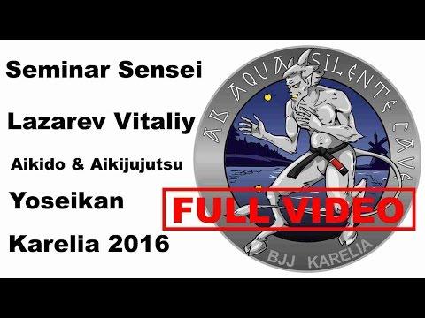 Seminar 10: sensei Lazarev Vitaliy Aikido & Aikijujutsu Yosekan Russia Karelia