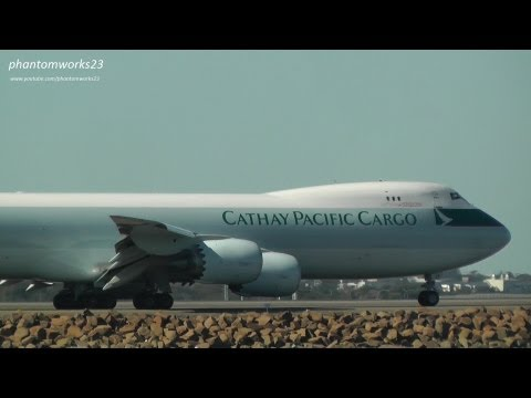 Cathay Pacific Cargo 747-8F | Quick Take Off 34L | Sydney Airport