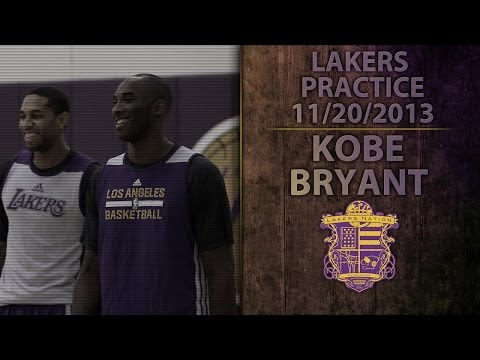 Kobe Bryant's Back At Lakers Practice: Video Of Kobe Being Kobe
