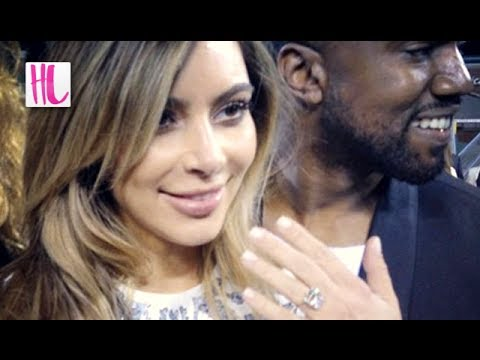 Kanye West Proposes to Kim Kardashian At Baseball Stadium