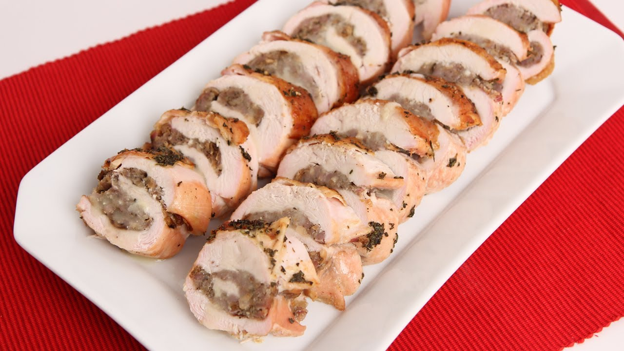 Roasted Stuffed Turkey Breast Recipe - Laura Vitale - Laura in the ...