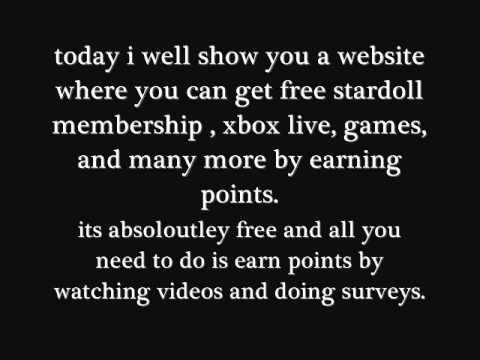 Stardoll free membership  100% working (superstar) xbox games second life Many more 2012 Free stuff
