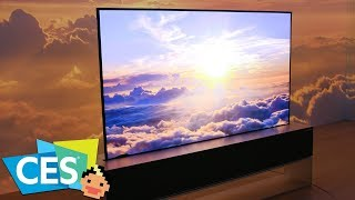 LG's Rollable TV,  Waterfall Display, 88-inch 8K OLED and LG Home Brew - CES 2019