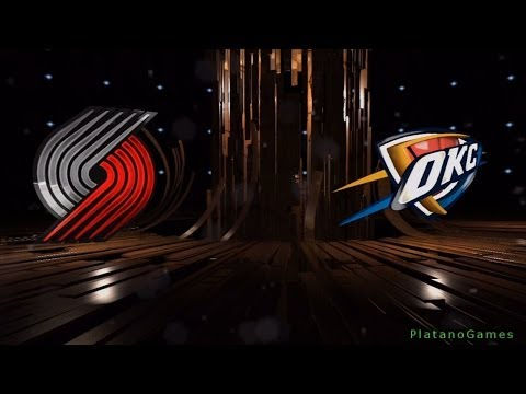 NBA Portland Trail Blazers vs Oklahoma City Thunder - 1st Qrt - NBA Live 14 PS4 - HD