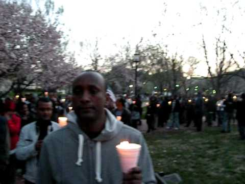 Candle Light Vigil: Ethiopian Americans Urge Barack Obama to Stop The
